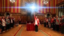 Ada Colau being sworn-in as Mayor of Barcelona,
