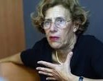 Manuela Carmena canvassing for the popular list Ahora Madrid. Her list nearly won.