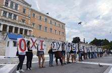 Demonstration in support of voting no (OXI) in the Greek referendum
