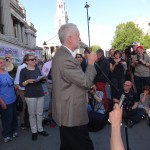 Jeremy Corbyn at a rally in solidarity with the struggle against austerity in Greece. Trafalgar Sq. July 2015