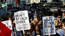 Demonstration against 'regime change' in Syria