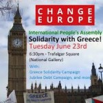 International Peoples Assembly (IPA) in support of Greece