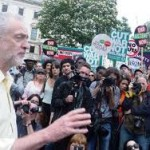Jeremy Corbyn speaks to the anti-austerity demo of the 16.4.16, 100,000 strong, called by the Peoples Assembly