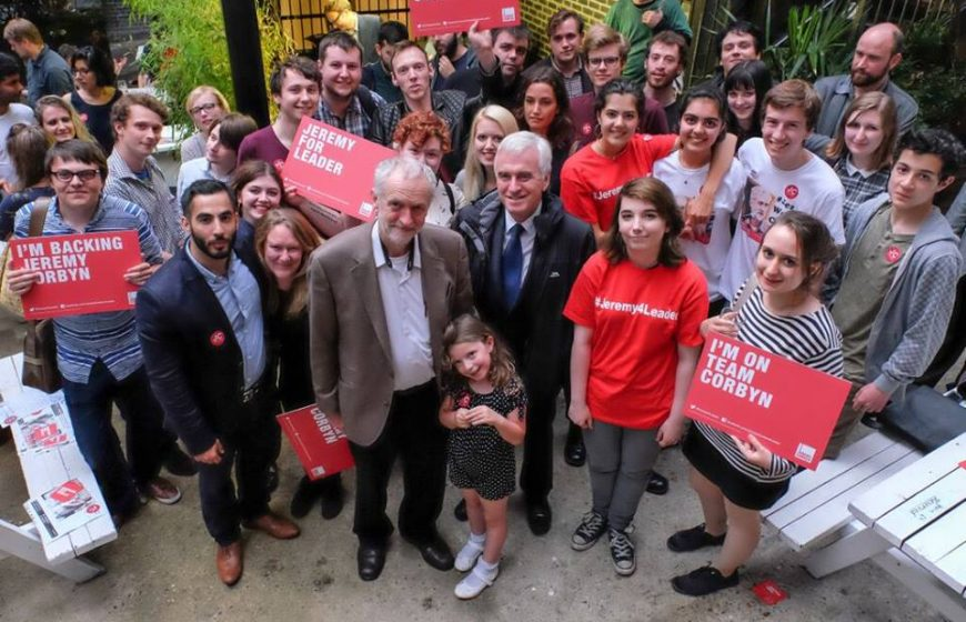 Jeremy Corbyn On the campaign trail.