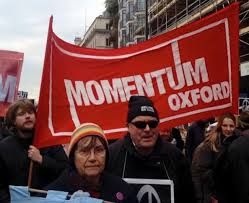 Banner of one of the Momentum groups.