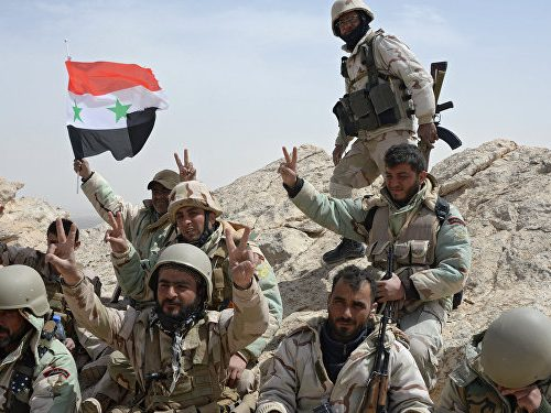 Liberation of Palmyra by the army of the Syrian government of Assad