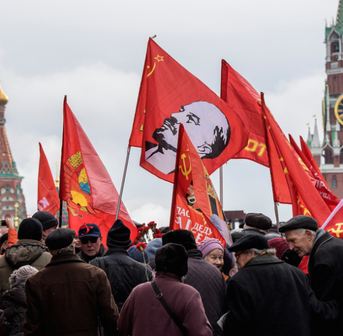 The Communists of Russia celebrate 100 years of the Russian Revolution, Moscow 5.11.17