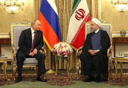 Putin meets the Ayatollah Ali Khamenei, 1.11.2017