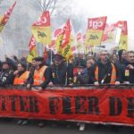 Demonstrration of Railway Workers against SNCF privatisation