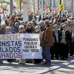 Pensioners demonstration, in Spain, 1st March 2018