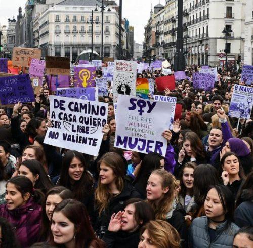 Women Strike in Spain on the 8 March 2018