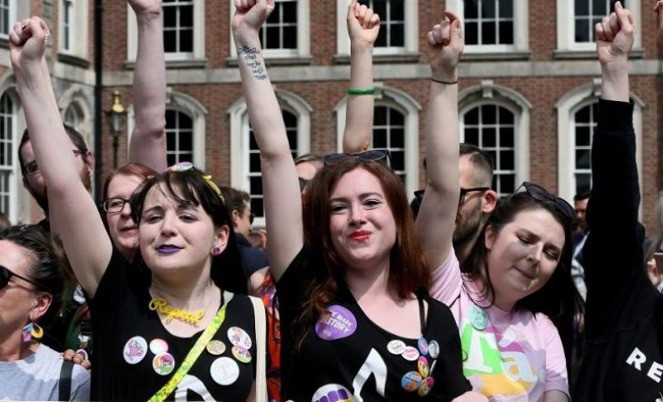 Irish women celebrate referendum victory on abortion rights