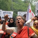 New Delhi Women demonstrate for Women's right, 31.5.14