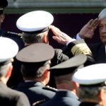 Lopez Obrador speaks to the army.