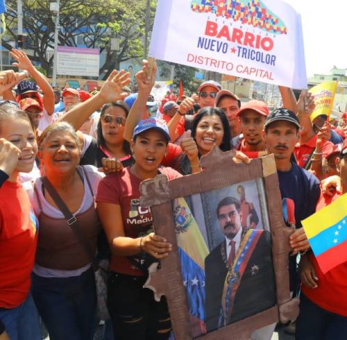Venezuela. The population supports  Nicola Maduro