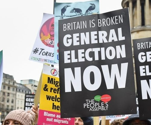 The Labour Party and its supporters demand a general election, not a new referendum