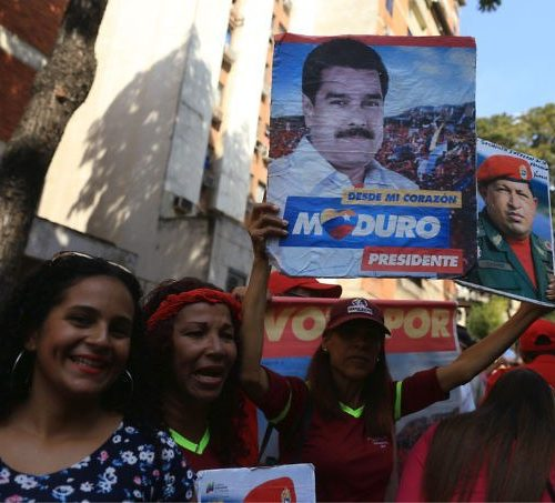 Nicola Maduro's inauguration 10.1.2019, outside the Supreme Court, Caracas