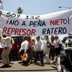 Demonstrations against Pena Nieto, who lost the Mexican elections.