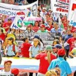 Mass demonstrations in support of the Maduro's government and in protest at sabotage of electricity provision. 16.3.2019