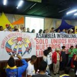 The International Peoples Assembly in session in Caracas.