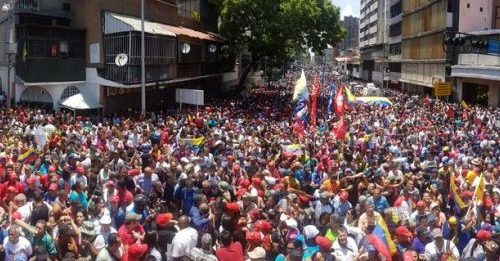 Mobilisations in support of Maduro, hardly shown in the Western press