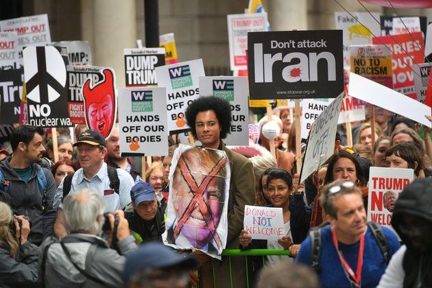 Anti-Trump Demonstration London 4 June 2019