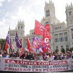 Workers mobilisations on the First of May 2019 in Spain.