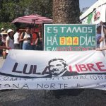 Demonstrations outside Lula's jail in Curitiba, 3.10.2019