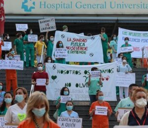 Protest of Health Workers in Spain