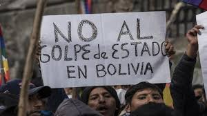 Demonstrations against the military coup in Bolivia in the autum of 2019.