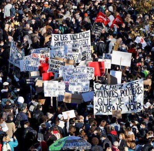 France-manif-contre-loi-sécurité-globale-Paris-28-nov-2020-500x490